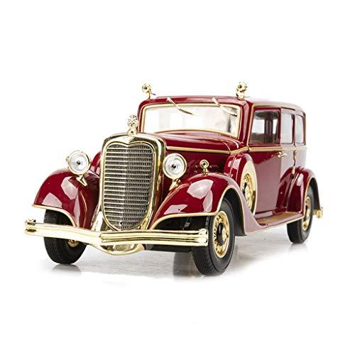 KKD Scale-Modellfahrzeuge Hochrotes Modellauto-Legierungsauto-Modell 1:18 Cadillac-Oldtimer letzte Kaiser Pu Yi Drachenauto-Simulationsauto-Modell Fotografie Requisiten Mini Fahrzeuge (Color : RED)
