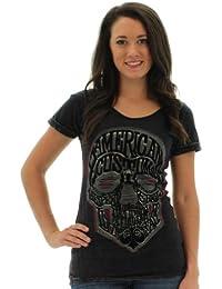 Affliction T-Shirt AC Wordskull Black
