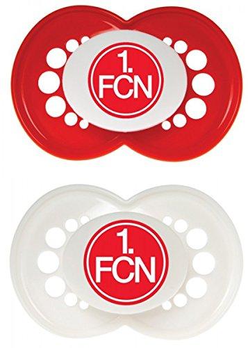 """MAM 66119801 – Schnuller, Bundesliga, Football """"1. FC Nürnberg"""" 6-16 Monate, Silikon, Doppelpack"""
