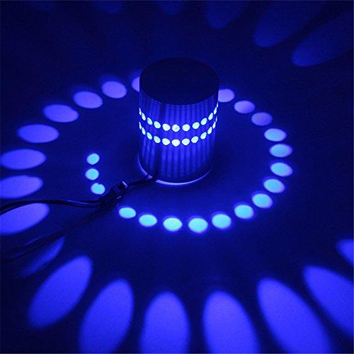 Kreative LED Wandleuchte Rgb Wandleuchte Moderne Leuchte leuchtende Beleuchtung Wandleuchte 3W Ac85-265V Innenwand Dekoration, blau