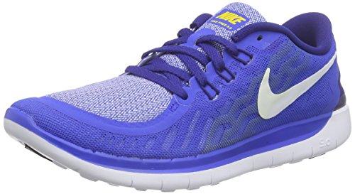Nike Crianças Unissex Livre 5.0 Sapatos (gs) Em Execução Azul (milho Hiper Cobalto / Branco / Time Do Colégio / Deep Royal 404)