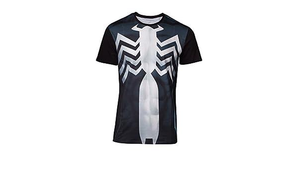 Marvel Comics Spider-Man men/'s Venom Costume Sublimation T-Shirt Large Multi-couleur
