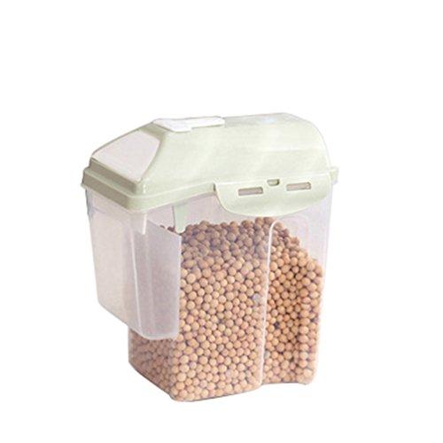 NACOLA Müsli-Behälter luftdichter Aufbewahrungsbox aus Kunststoff mit Keeper für Getreide, Müsli Haferflocken-Samen (Samen Keeper)