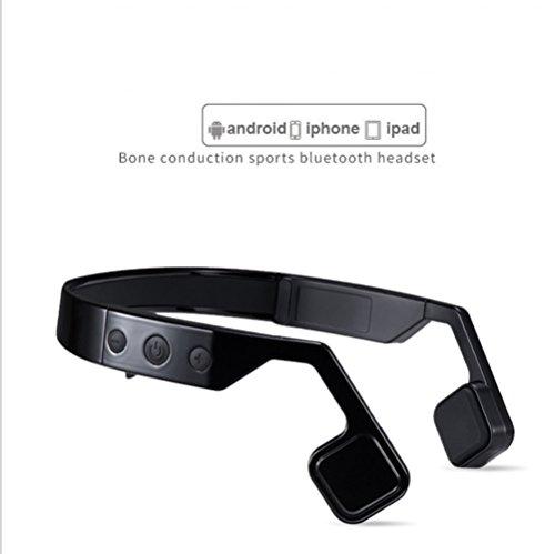 Cuffie bluetooth senza fili a conduzione ossea intelligente, cuffie sportive appese impermeabili per nuoto in bicicletta,black