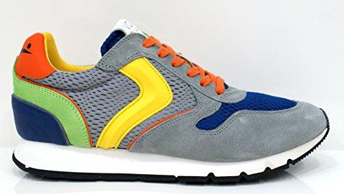 VOILE BLANCHE uomo sneakers basse LIAM SPOILER grigio-blu 43 Grigio-Blu