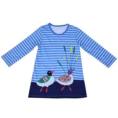 (Coogel Toddler Baby Girls Kids Autumn Clothes Long Sleeve Party Deer Tops T-Shirt (Bird))