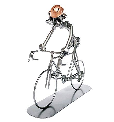 Ciclista Escultura–Creative hecho a mano adorno de metal–Gran regalo para los ciclistas