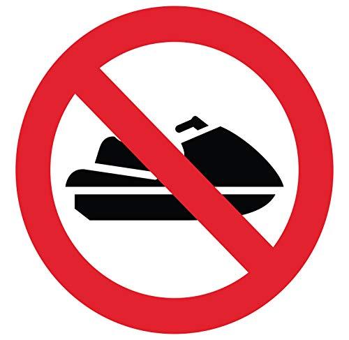 Sticker verboten im Jet-Ski Durchmesser 10 x 10 cm