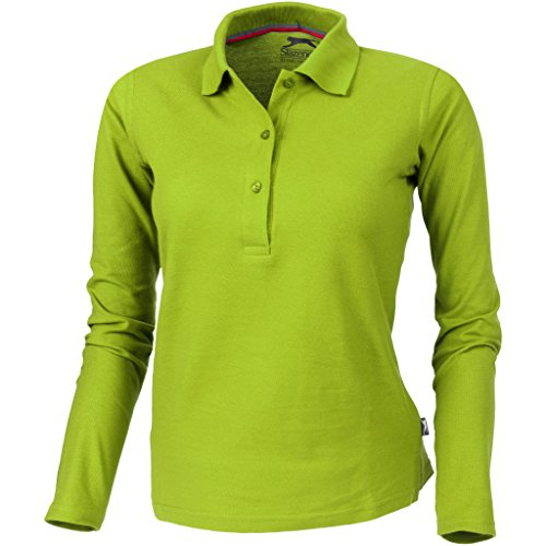 Slazenger Damen Point Langarm Polo Shirt (L) (Apfel Grün)