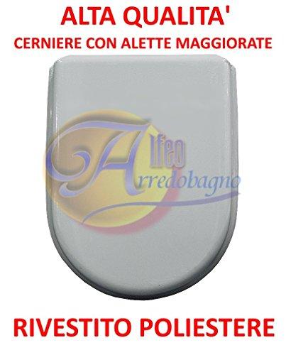 Copriwater ideal standard esedra bianco coprivaso poliestere alta qualita'