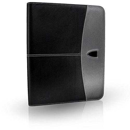 Hochwertige BizAid Schreibmappe in edlem Design - Kompakte Businesstasche mit Platz für iPad oder Macbook und Notebook