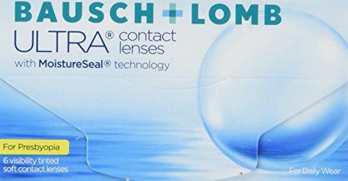 Bausch + Lomb Ultra for Presbyopia Contact lenses with Moistureseal Technology Monatslinsen weich, 6 Stück / BC 8.5 mm / DIA 14.2 mm / ADD HIGH / -4 Dioptrien