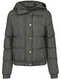 Urban Classics Damen Winterjacke Ladies Hooded Puffer Jacket, gefütterte  Jacke für Herbst und Winter mit abnehmbarer Kapuze,… 819fde84f5