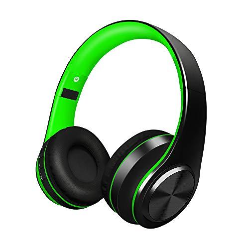 Alitoo Auriculares Inalámbricos Bluetooth Estéreo Plegable Auriculares de Diadema con micrófono Cancelación de Ruido Sobre Oreja Cascos para PC,TV,Tableta,Android,MP3 y MP4 (Black&Green)