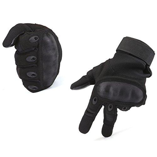 Graceme Motorradhandschuhe Schwarz Sporthandschuhe Herren Militär Handschuhe airsoft handschuhe Winter out door Sport (M)