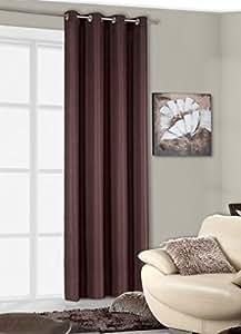 140x245 cm braun schoko schokolade Vorhang Vorhänge Fensterdekoration Gardine Ösenschal brown choco chocolate BALI