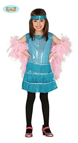 KINDERKOSTÜM - CHARLESTON - Größe 122-132 cm ( 7-9 Jahre ), 20er 30er Jahre USA Amerika Gangster Flapper Gesellschaftstanz Broadway Musical (Broadway Kostüm Party)