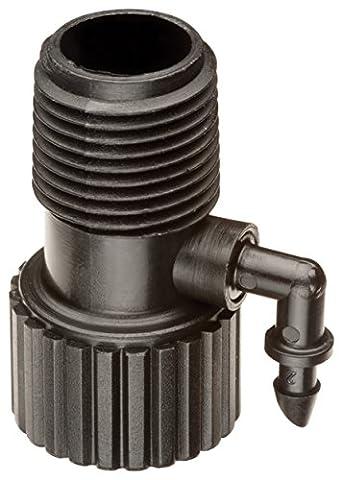 Rain Bird risman1s Tropfbewässerung Riser Adapter Drip und Sprinkler Bewässerung, 1/5,1cm weiblich Rohr-Gewinde x 1/5,1cm Stecker Gewinde x 1/10,2cm Stacheldraht (Mpt Stecker-adapter)