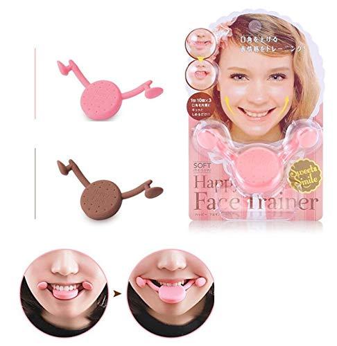 Popolar-Werkzeuge von Happy Face Trainer Dolci Sorriso Maker, Sorriso Brace in Form von Bocca Muscoli Stretching Esercizio Sorridente Werkzeug Pink
