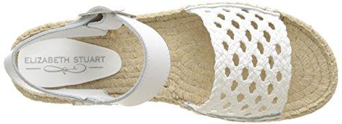 ELIZABETH STUART Damen Nizza Plateausandalen Blanc (blanc/blanc)