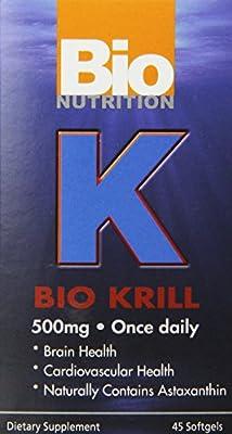 Bio Nutrition Inc, Bionutrition, Bio Krill 500Mg 45 Sgel by Bio Nutrition