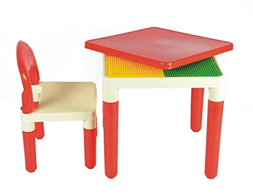 Ehomekart 2 In 1 Building Blocks Cum Study Or Play Table With 2 Chairs