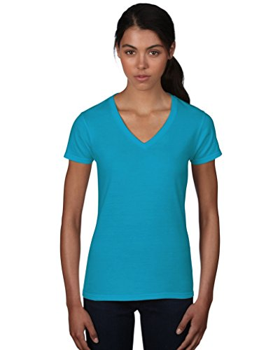 Anvil women ´ s fashion 88 vl basic t-shirt col en v Turquoise - Turquoise
