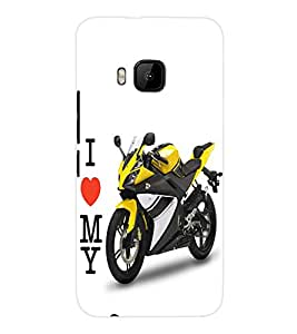 ColourCraft Bike Back Case Cover for HTC ONE M9