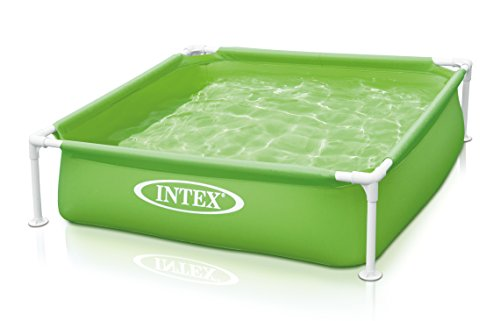 Intex Kinderpool Frame Pool Mini, Grün, 122 x 122 x 30 cm