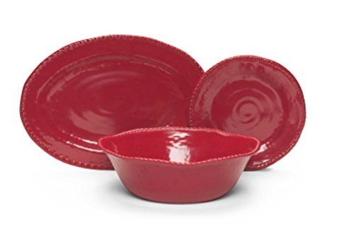 tommy-bahama-6-piece-solid-red-rope-melamine-dinner-plates-salad-serving-bowl-and-platter-service-fo