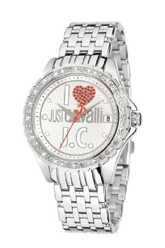 Just Cavalli R7253167715 Easy Gents Watch Quartz Analogue White Dial Silver Steel Strap