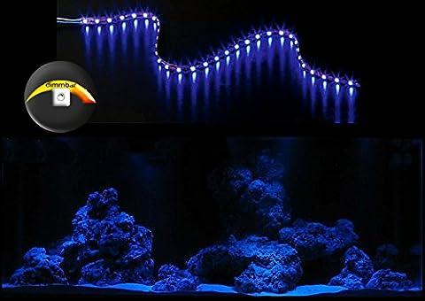 creative lights AQUARIUM MONDLICHT, LED LICHTLEISTE 120 CM + DIMMER KOMPLETTSET FLEXI-SLIM BLAU