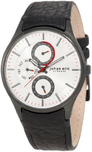 Johan Eric JE4003-13-001 - Reloj analógico de Cuarzo para Hombre con Correa de Piel, Color Negro