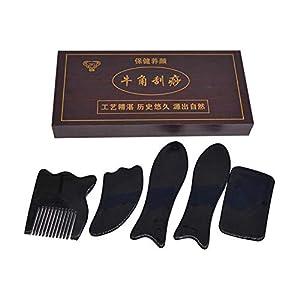 Infinitely Great Home Decor Center 5-teiliges chinesisches traditionelles Gua Sha Akupunktur-Massagewerkzeug-Set Guasha