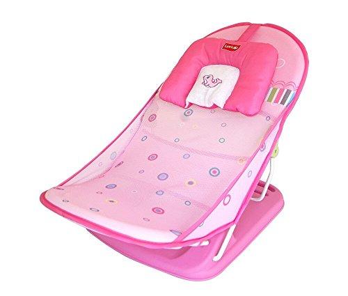 LuvLap Pink Ocean Compact Baby Bather - Bath Seat
