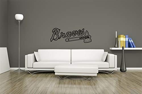 Wandtattoo MLB Logo Atlanta Braves Baseball Team Zeichen Wand Dekor Vinyl Aufkleber Aufkleber Wandkunst