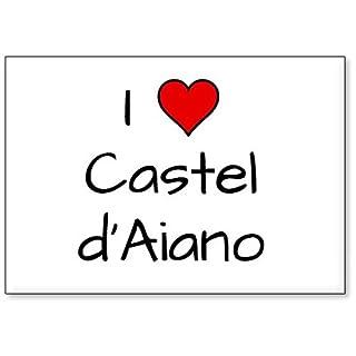 Mundus Souvenirs - I Love Castel d'Aiano, fridge magnet (design 3)