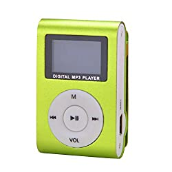Captcha Mini Digital MP3 Player with HD LED Torch Functionality Green