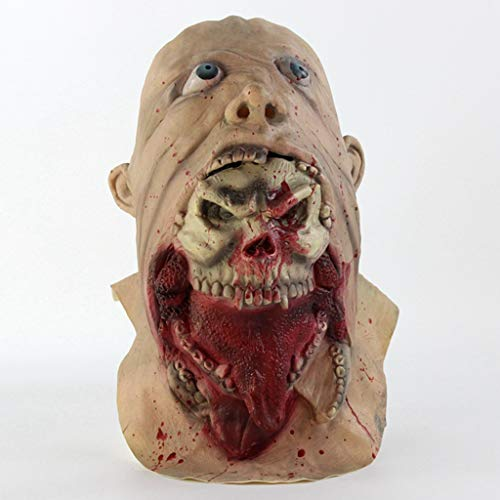 Maske Deluxe Terror Ein Gespenst Jagen Maske Der Walking Toten Kopfkopf Latex Spielzeugtier Kopf Maske Für Lustige ()