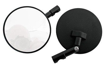 Motorrad Spiegel Lenkerendenspiegel Superbike Lenkerenden rund schwarz Stiel verstellbar /Paar E-geprüft