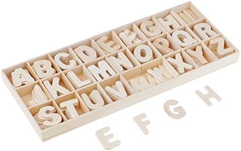 B Baosity 156 Pièces Lettres en Bois Artisanal, Alphabet en Bois Naturel - avec bac de RangeHommes t | Paris