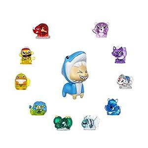 Hanazuki - Lunalux pack 10 tesoros animales y una pequeña figurita  (Hasbro B8458ES0)