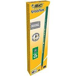 BIC Evolution HB - Lápiz con mina irrompible, 12 unidades