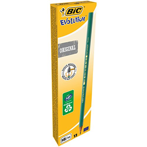 BIC Ecolutions Evolution 650 HB Pencil (Pack of 12) – Green