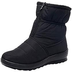 OHQ Botas De Nieve Mujer Invierno Impermeables Botines Cortas Calzado Zapatos Negro Rojo Beige Azul Botas Martin Mujeres