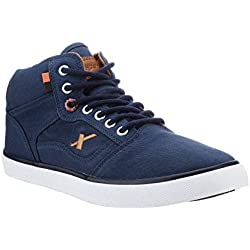 Sparx Men's Navy Blue and Tan Sneakers - 8 UK/India (42 EU)(SC-282)
