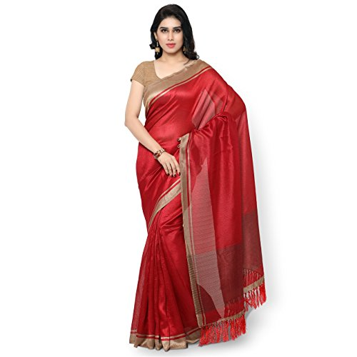 Rajnandini Tussar Art Silk Saree (Joplnb3005_Red Color)