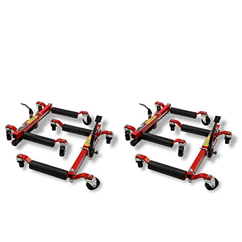 DeTec 4 Stück Rangierhilfe PKW Autoheber Rangierheber Hydraulisch Wagenheber bis 680kg Tragkraft (4 Stück)
