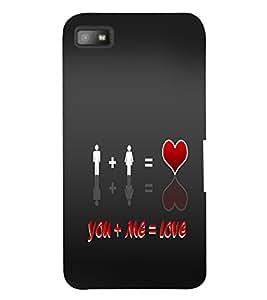 PrintVisa Romantic Love Quotes 3D Hard Polycarbonate Designer Back Case Cover for Blackberry Z10