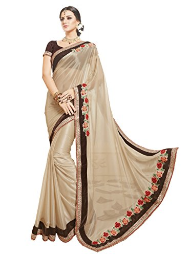 Palav Fashion Net Saree (Rbpf_5502_Golden Beie)